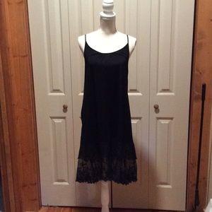EUC Extra Long Black Lace Camisole LIKE NEW!
